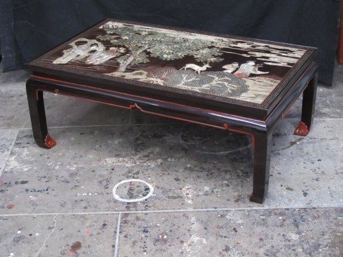 Asian Art & Antiques  - Coromandel lacquer coffee table with a 20th century legs.
