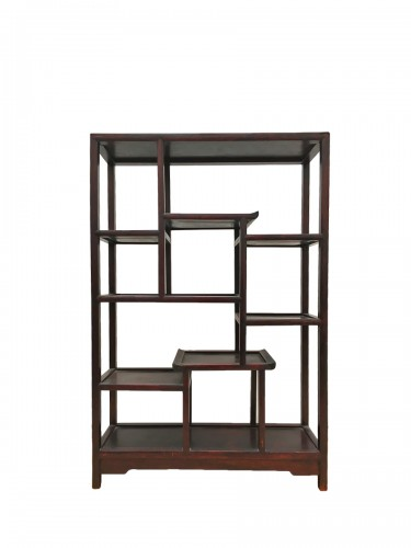 Small wooden shelf, circa 1900 century China.
