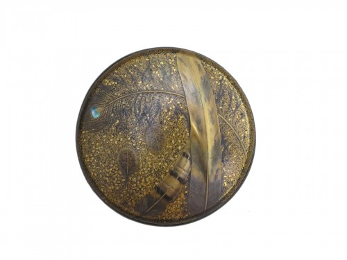 Round lacquered box, Japan XIXe siècle
