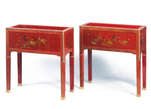 Pair of jardinieres by Louis Cane - Decorative Objects Style