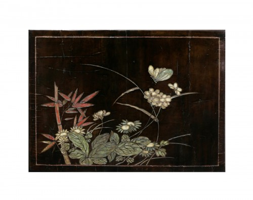 Coromandel lacquer - The butterfly