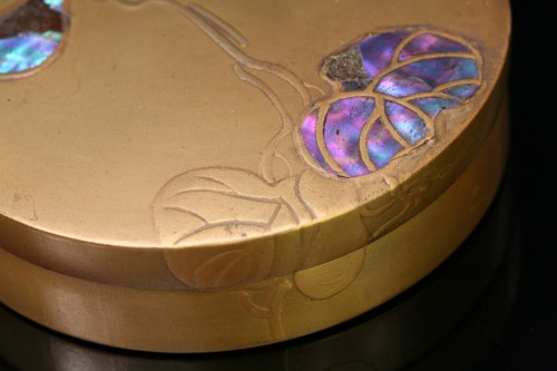 Kobako en lacquer and mother-of-pearl inlay - Asian Works of Art Style