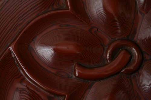 Asian Works of Art  - Kobako in red lacquer