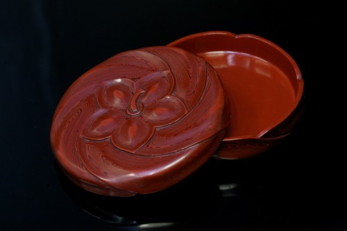 19th century - Kobako in red lacquer