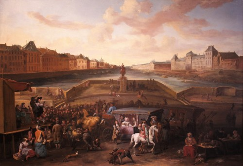 View of Paris from Pont Neuf - Hendrick Mommers (1623-1693) - Paintings & Drawings Style Louis XIV