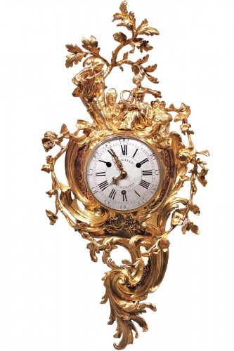 A Louis XV grand gilt bronze cartel clock, Paris, circa  1765