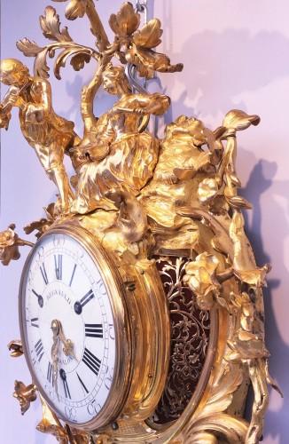 18th century - A Louis XV grand gilt bronze cartel clock, Paris, circa  1765