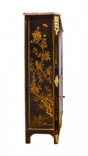 18th century - A Louis XVI 18th c. Chinese lacquer secretaire by L. Foureau