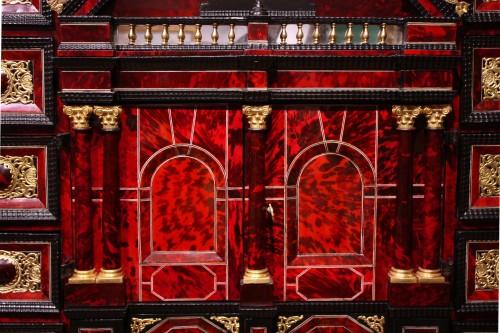 17th century - A 17th c. Antwerp ormolu-mounted tortoiseshell cabinet