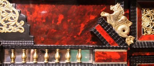 Louis XIV - A 17th c. Antwerp ormolu-mounted tortoiseshell cabinet