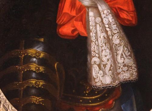 Paintings & Drawings  - Portrait of King Louis XIV in armor, workshop of Pierre Mignard (1612-1695)