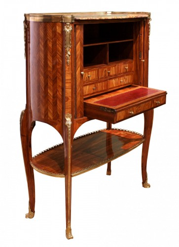 Middle secretary with curtains by RVLC, Paris circa 1760