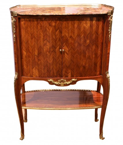 Middle secretary with curtains by RVLC, Paris circa 1760 - Furniture Style Louis XV
