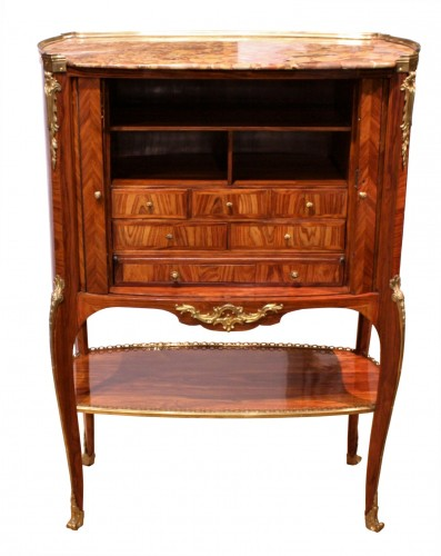 Furniture  - Middle secretary with curtains by RVLC, Paris circa 1760