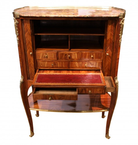 Middle secretary with curtains by RVLC, Paris circa 1760 -