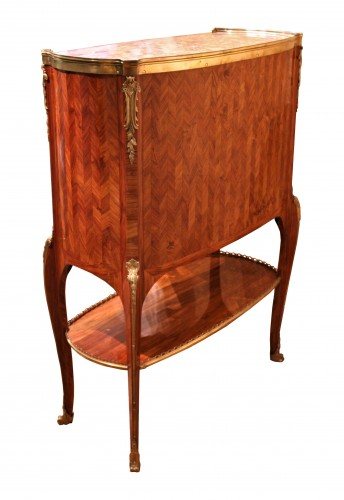 18th century - Middle secretary with curtains by RVLC, Paris circa 1760