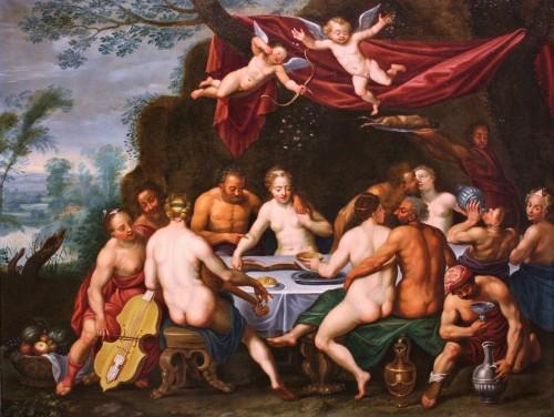 Adrien van Stalbemt (1580-1662) Wedding of Bacchus and Ariadne - Paintings & Drawings Style Louis XIII