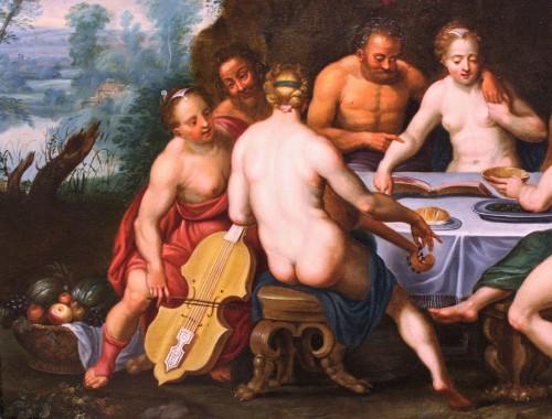 Paintings & Drawings  - Adrien van Stalbemt (1580-1662) Wedding of Bacchus and Ariadne