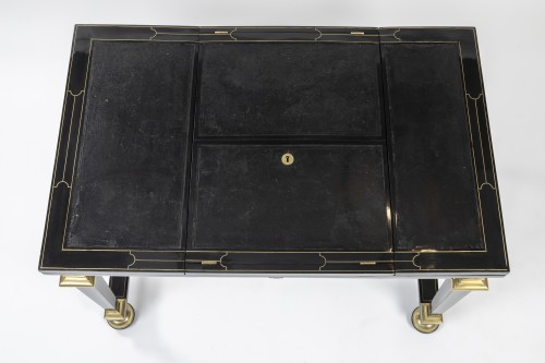 A Louis XIV Boulle marquetry duets table -