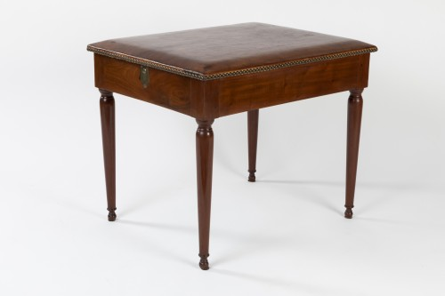 Library stool with transformation, stamped KRIER, Paris late 18th. - Furniture Style Directoire