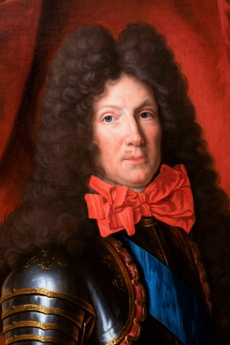 Portrait of marshal Choiseul-Francières, attributed to Pierre Mignard - Paintings & Drawings Style Louis XIV