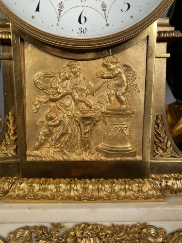 Antiquités - Mantel clock with musical fauns, Thomire circa 1790