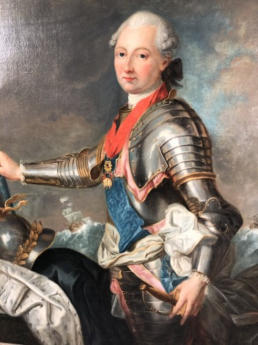 Portrait du Duc de Penthièvre, by J.B Charpentier the Elder circa 1780. - Paintings & Drawings Style Louis XVI