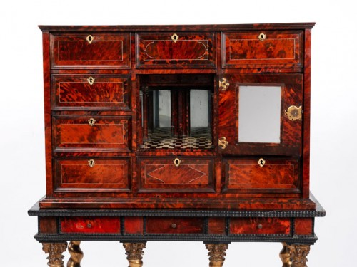 17th century - A mid 17th c. Antwerp tortoiseshell cabinet