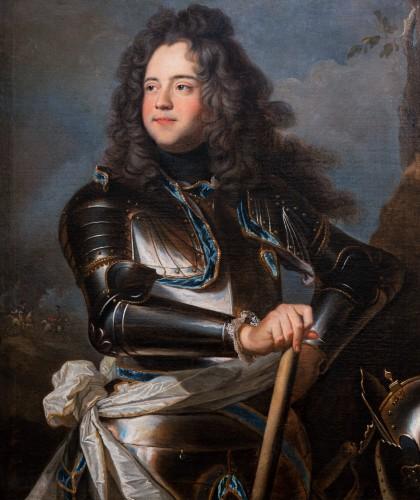 Portrait of Henri-Louis de la Tour d'Auvergne, workshop of Hyacinthe Rigaud - Paintings & Drawings Style Louis XIV