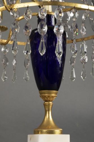 Lighting  - Pair of girandoles in bronze and crystal, St Petersburg circa 1790