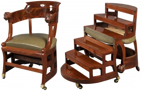 Desk chair with transformation by Jacob, Paris circa 1820
