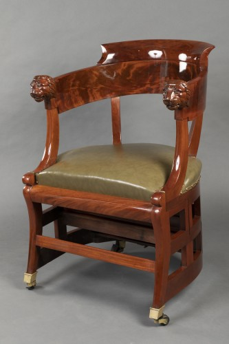 Desk chair with transformation by Jacob, Paris circa 1820 - Seating Style Restauration - Charles X