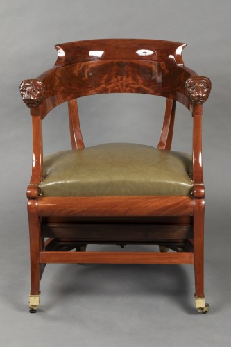 Seating  - Desk chair with transformation by Jacob, Paris circa 1820