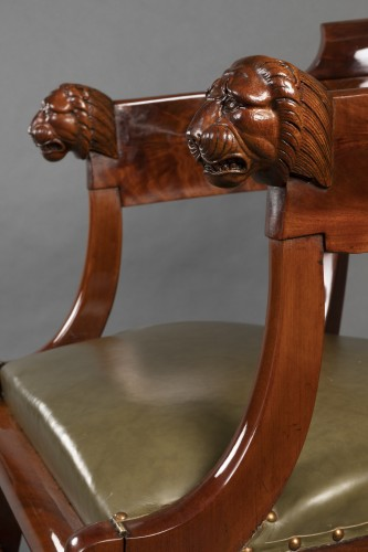 Desk chair with transformation by Jacob, Paris circa 1820 -