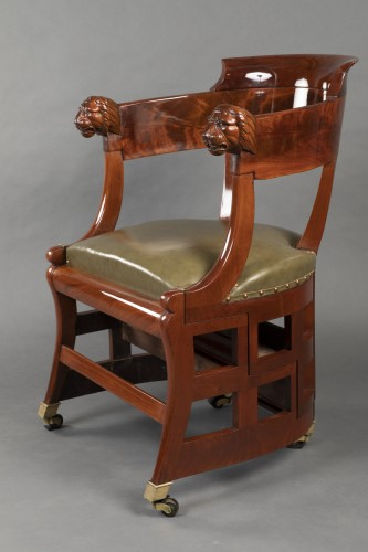 18th century - Desk chair with transformation by Jacob, Paris circa 1820