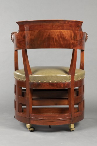 Desk chair with transformation by Jacob, Paris circa 1820 - Restauration - Charles X