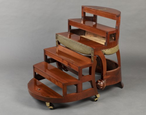 Restauration - Charles X - Desk chair with transformation by Jacob, Paris circa 1820