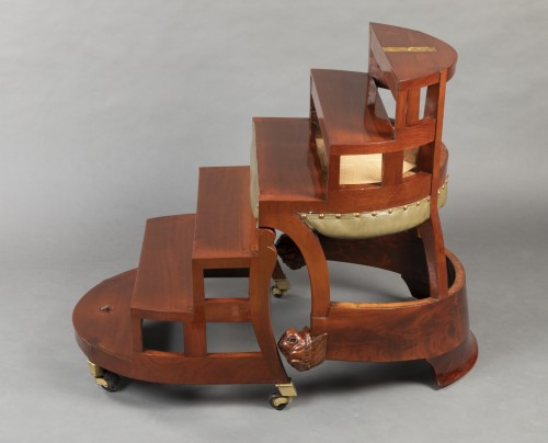 Antiquités - Desk chair with transformation by Jacob, Paris circa 1820