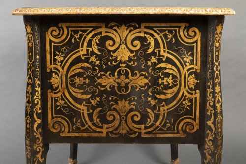 18th Mazarin lacquered desk in imitation of Boulle marquetry - Furniture Style Louis XIV