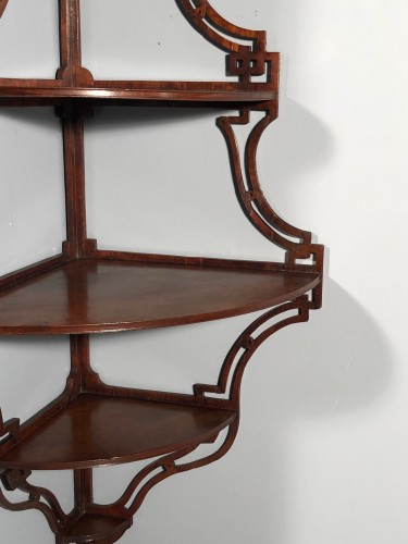 Furniture  - Pair of Anglo-Chinese style amaranth shelves, Paris circa 1765