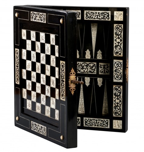 Ivory and ebony games board, Augsburg, circa 1630, workshop of Baumgartner