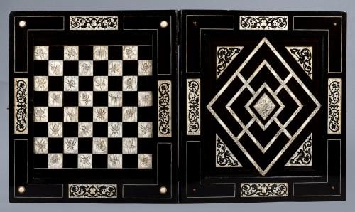 Curiosities  - Ivory and ebony games board, Augsburg, circa 1630, workshop of Baumgartner