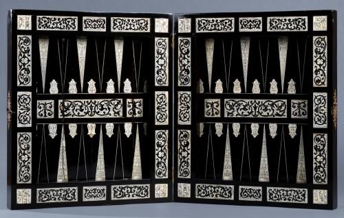 Ivory and ebony games board, Augsburg, circa 1630, workshop of Baumgartner  -