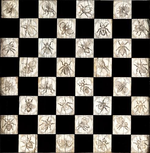 17th century - Ivory and ebony games board, Augsburg, circa 1630, workshop of Baumgartner