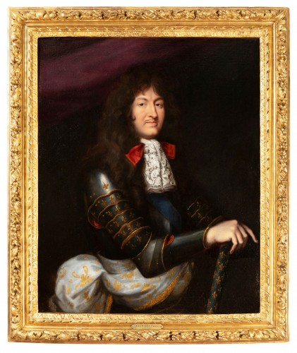 Portrait of Louis XIV in armor - Pierre Mignard, circa 1680