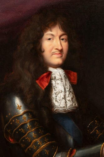 Portrait of Louis XIV in armor - Pierre Mignard, circa 1680 - Paintings & Drawings Style Louis XIV