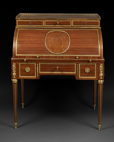 Louis XVI cylinder secretary attributed to F. Bury  - Furniture Style Louis XVI