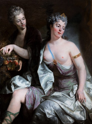 Portrait of a woman as Cleopatra, attr. to N. de Largilliere, circa 1720 - Paintings & Drawings Style French Regence