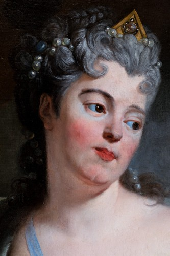 Paintings & Drawings  - Portrait of a woman as Cleopatra, attr. to N. de Largilliere, circa 1720