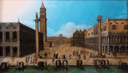 View of piazza San Marco, Venise, attributed to Louis de Caullery